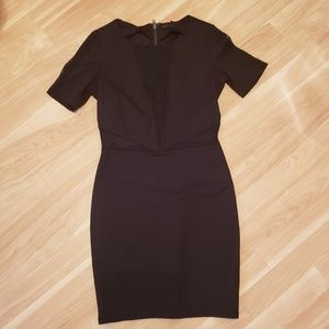 Lucca Couture fitted little black dress